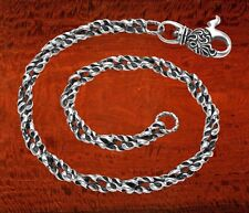 Sterling Silver Custom Figure Eight Link Wallet Neck Chain Custom Lobster Claw