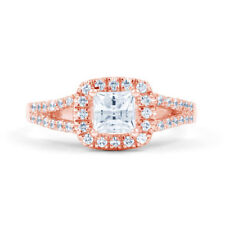 Engagement Cluster Natural Rose Gold Fine Diamond Rings