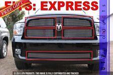 GTG 2009 - 2012 Dodge Ram Express 1500 5PC Polished Overlay Combo Billet Grille