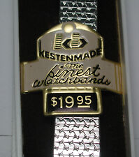 """NOS Antique KESTENMADE  FINE Stainless Link Watch Band 1/2"""" w 14 mm  Ends #T247"""
