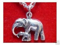 COOL Sterling Silver 925 charm pendant elephant baby Family