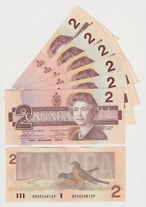 Canada Two Dollar $2 (1986) - XF BANK NOTES