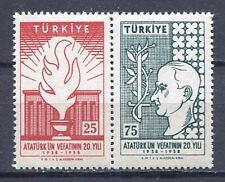 30914) TURKEY 1958 MNH** Ataturk 2v. Scott# 1431a pair