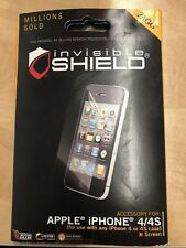 ZAGG Invisible Shield Screen Protector iPhone 4 4S NEW Military Grade