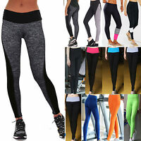 Womens Stretch Yoga Fitness Leggings Gym Running Sports Pants Trousers Exercise
