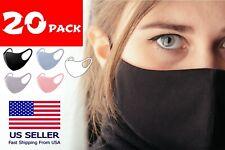 20 PCS Men Women Face Mask Reusable Washable Clothing Covering NEW Cover Masks