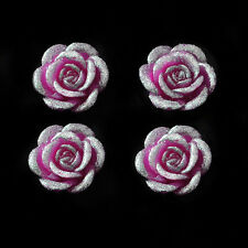 FLOATING CANDLES ROSE GLITTER PACK OF 4 WEDDING EVENTS FREE DELIVERY