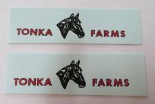 Tonka Farms water slide decal set