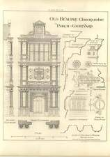 1906 Old Beaupre, Glamorganshire, Porch In Courtyard Elevation Plan, W Eaton