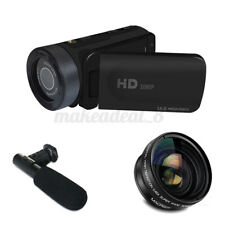 16x Zoom 1080P HD Digital Camcorder Video Vlogging Camera DV with Mic Lens