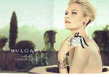 PUBLICITE ADVERTISING 035  2011  BVLGARI  parfum  femme  JASMIN NOIR ( 2p)