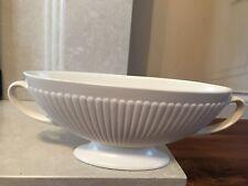 More details for vintage wedgwood etruria & barlaston moonstone white mantle vase