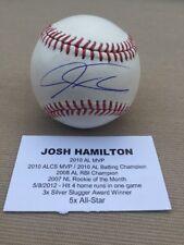 JOSH HAMILTON SIGNED AUTOGRAPHED BASEBALL TRISTAR MLB AUTHENTICATED BALL COA