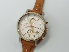 Fossil Original Boyfriend Women's Chronograph Leather Strap Watch ES3615