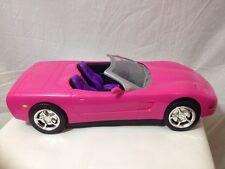 Vintage 2001 Mattel Remote Control Barbie Corvette Pink Car Drop Top Rare Toy