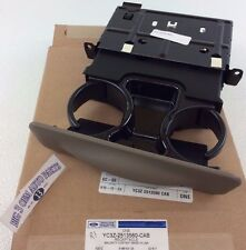 2000-2004 Ford F-250 F-350 F-450 F-550 Excursion tan Dash Cup Holder OEM new