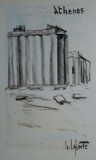 Georges LAPORTE (1926-2000) Technique mixte/papier Athènes P1804