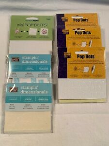 "Lot of 6 Self Adhesive Foam Mounts & Pop Dots 1/4"" & 1/2"" & Dimensionals NEW"