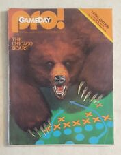 CHICAGO BEARS AT DETROIT LIONS PROGRAM OCTOBER 19 1981 SILVERDOME