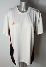 "ADIDAS MEN'S WHITE BLACK CASUAL SPORTS T-SHIRT TOP SIZE 42-44""  XL"