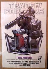 "2002 DreamWave Comics Transformers Decepticon Megatron Promo Poster 24x35.5"""