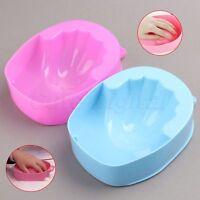 1/2Pcs Nail Art Soak Off Bowl Hand Spa Bath Soaker Treatment Wash Manicure Tool