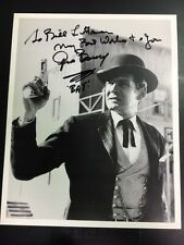 """Gene Barry as """"Bat Masterson"""" In Action Signed 8x10 Photo with COA"""