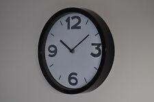 Cased wall clock,Black,26 cm diameter,Argos,New with box