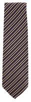 "New Finamore Napoli Brown Striped Tie - 3.25"" x 58"" - (TIESTRX2703)"