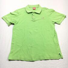 Hollister Womens Medium M Light Green Pink Polo Short Sleeve 2 Button Shirt
