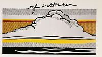 ROY LICHTENSTEIN  * CLOUD AND SEA *  AUTHENTIC HAND SIGNED PRINT