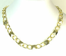 LADIES CHUNKY GOLD CHAIN AZTEC THEME PYRAMID EGYPTIAN STYLE NECKLACE (CL9)