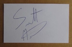SCOTT McKILLOP SIGNED AUTOGRAPH 3X5 INDEX CARD ORIGINAL NFL 2009 SF 49ERS BILLS