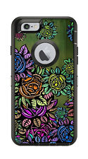 Skin Decal Wrap for Iphone 6 6S Otterbox Defender Case Abstract Flowers Motif