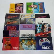 LOT OF 17 NES INSTRUCTION BOOKLET MANUAL (LOOK DESCRIPTION) C1900