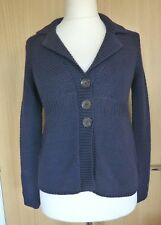 Boden Ladies Cardigan 10 Navy Blue Chunky Knit Winter Casual BNWOT Jacket