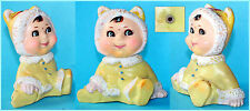 Vintage China Chinese Moving Head Baby Boy Rubber Doll Toy 'Pv 008' 1980's