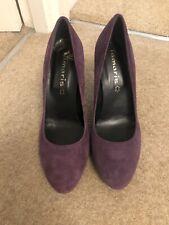 Tamaris Zapatos De Gamuza Borgoña Ciruela Morado Tamaño 36/3 10 £ hacer Oferta Navidad