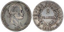 1811 Napoleon I 2 francs Paris A  silver coin of France