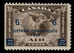 CANADA #C4  6c on 5c MINT**   'AIR MAIL STAMP' Overprint 1932 FINE