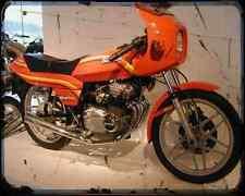 Benelli 254 Quattro 81 01 A4 Photo Print Motorbike Vintage Aged