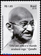18-07-2 BRAZIL 2018 150 YEARS OF MAHATMA GANDHI BIRTH, FAMOUS PEOPLE, INDIA, MNH