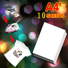 10 A4 Premium T Shirt Transfer Paper Light Inkjet Fabric Tshirt Heat 8.5x11 New