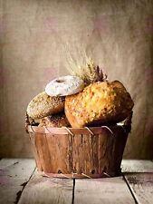Photographie Panier à Pain Boulangerie marchandises graines de blé Art Imprimé MP5669A