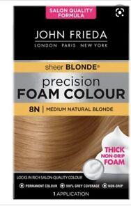 John Frieda Precision Foam Colour Sheer Blonde 8N Medium Natural Blonde