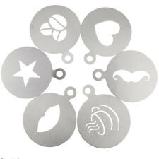 1 Pc Stainless Steel Coffee Pattern Template Stencils Cappuccino Latte Art Mold