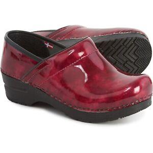 Sanita Size 35 Ariana Fuchsia Leather Clogs 459566