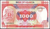 1986 UGANDA 1000 SHILLINGS BANKNOTE * UNC * P-26 *