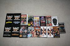 WWF LOT OF 17 Vintage VHS Tapes - Wrestlemania - Hulk Hogan - Cage Matches