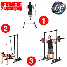 Home Gym Pull Up Bar Power Rack Exercise Stand Body Building Workout Fitness NEW